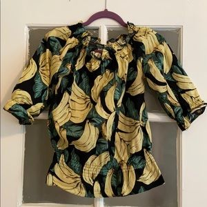 Bananas Off-the-Shoulders Top
